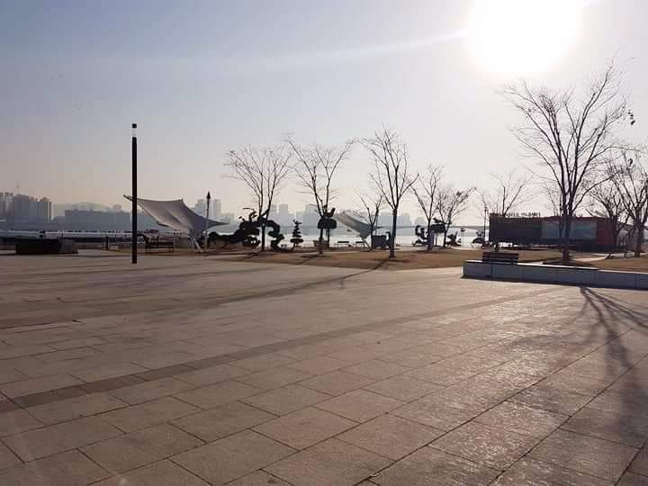 Han Gang Park and Han River South Korea