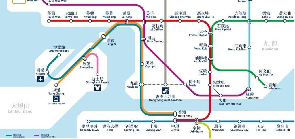 Hong Kong train map