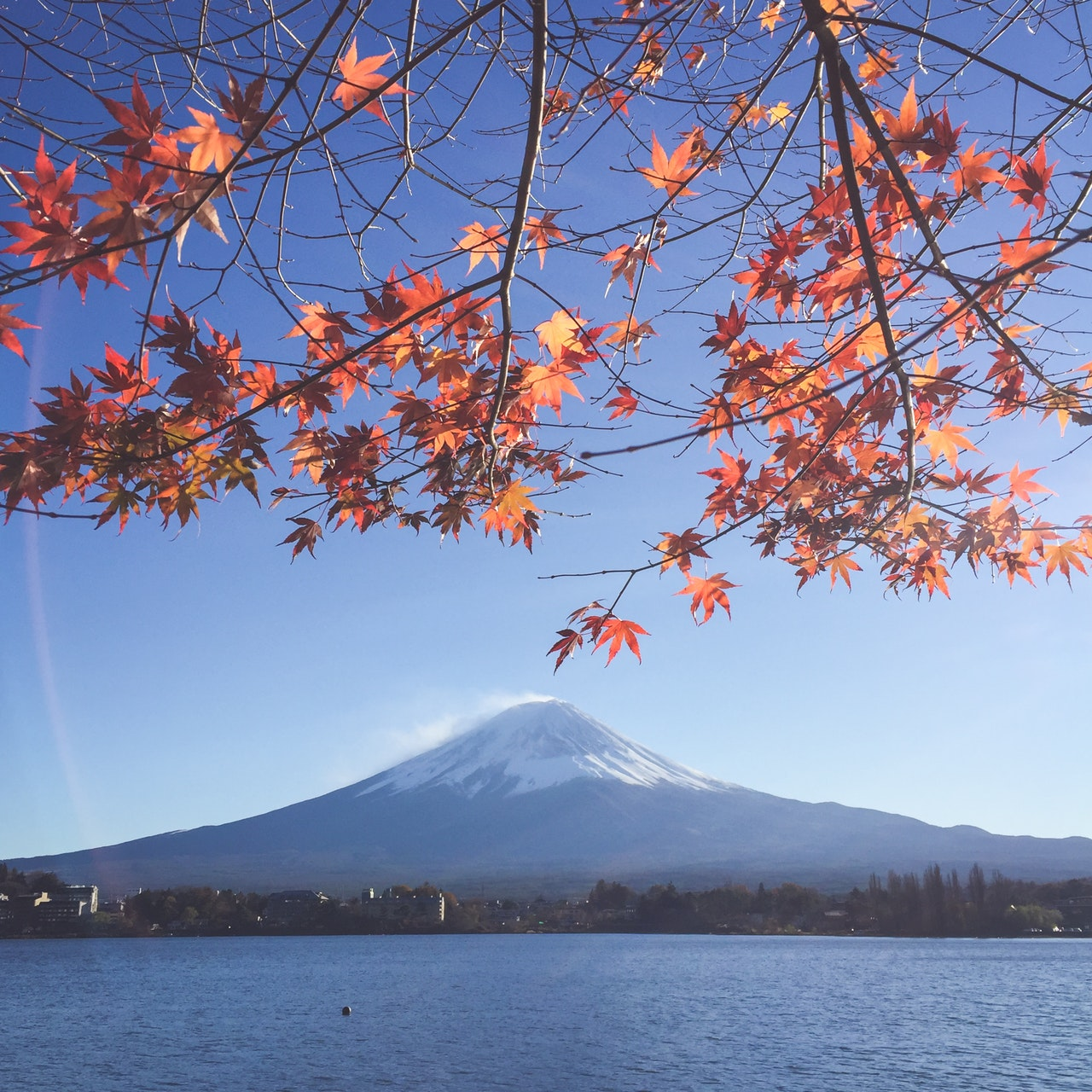 Mt Fuji on clear skies