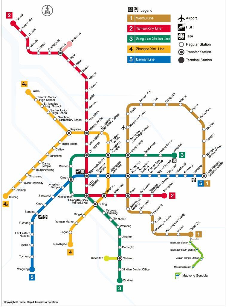 Taiwan Train Map